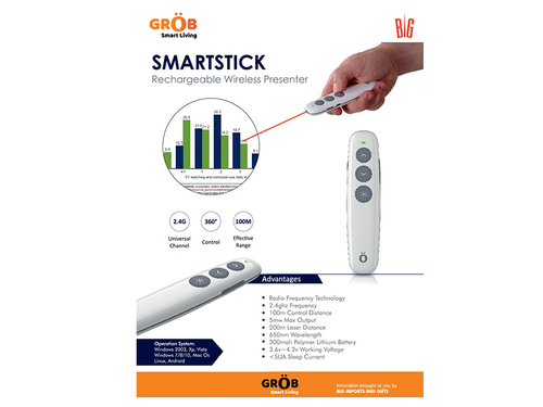 Smart Stick Rechargeable Wireless Presenter