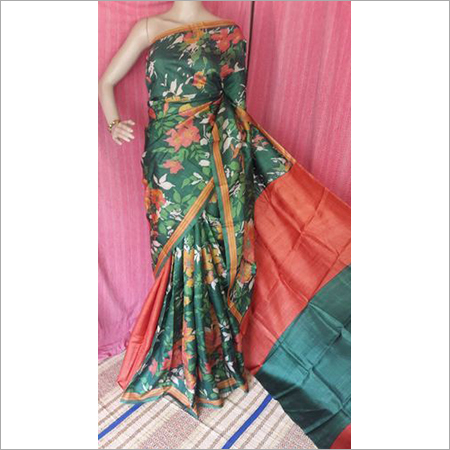 DIGITAL ZARI TASSAR SAREE