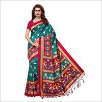 Printed Mysore Silk Jhalar Saree