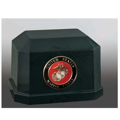 Novarro II with Marine Corps Urn