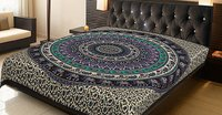 Mandala Elephant Printed Indian Cotton  Wall Hangings  Tapestry