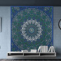 Star Mandala Handmade Indian Cotton Wall Home Decor Tapestry