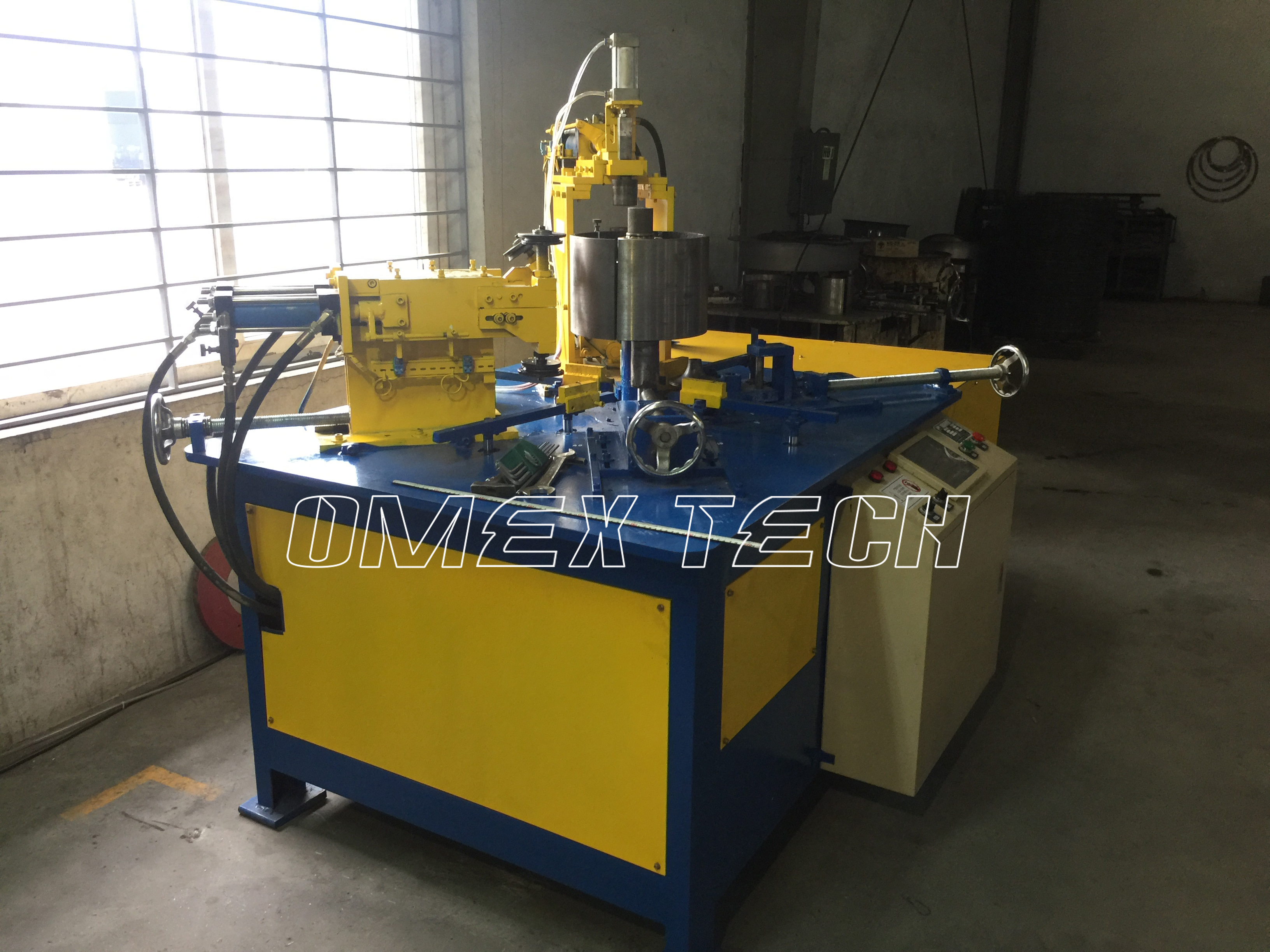 Axial Flow Fan House Flanging Forming Machine