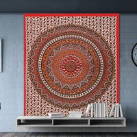 Vintage Look Wall Hangings Indian Cotton Round Mandala Tapestry