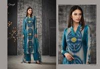 Printed Silk Salwar Kameez
