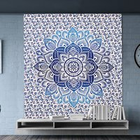 Fabric Dual Color Mandala Indian 100% Cotton Wall  Tapestry