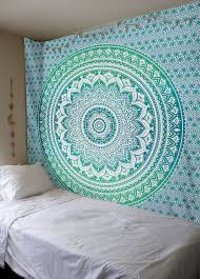 Ombre Mandala Indian 100% Cotton Dual Color HomeDecor Tapestry