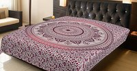 Indian Mandala Pink Color Deepak Ombre 100% Cotton Tapestry