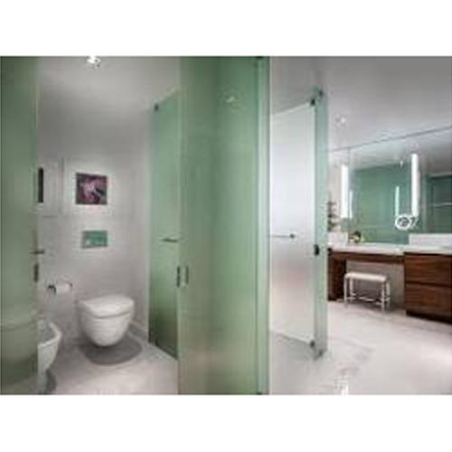 Glass Partition Toilet Cubicle