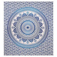 Deepak Ombre Mandala Indian 100% Cotton Dual Color Tapestry