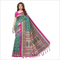 Mysore Fancy Printed Jhalar Saree