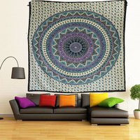 Star Mandala Printed Indian Wall Hangings Bedsheet Tapestry