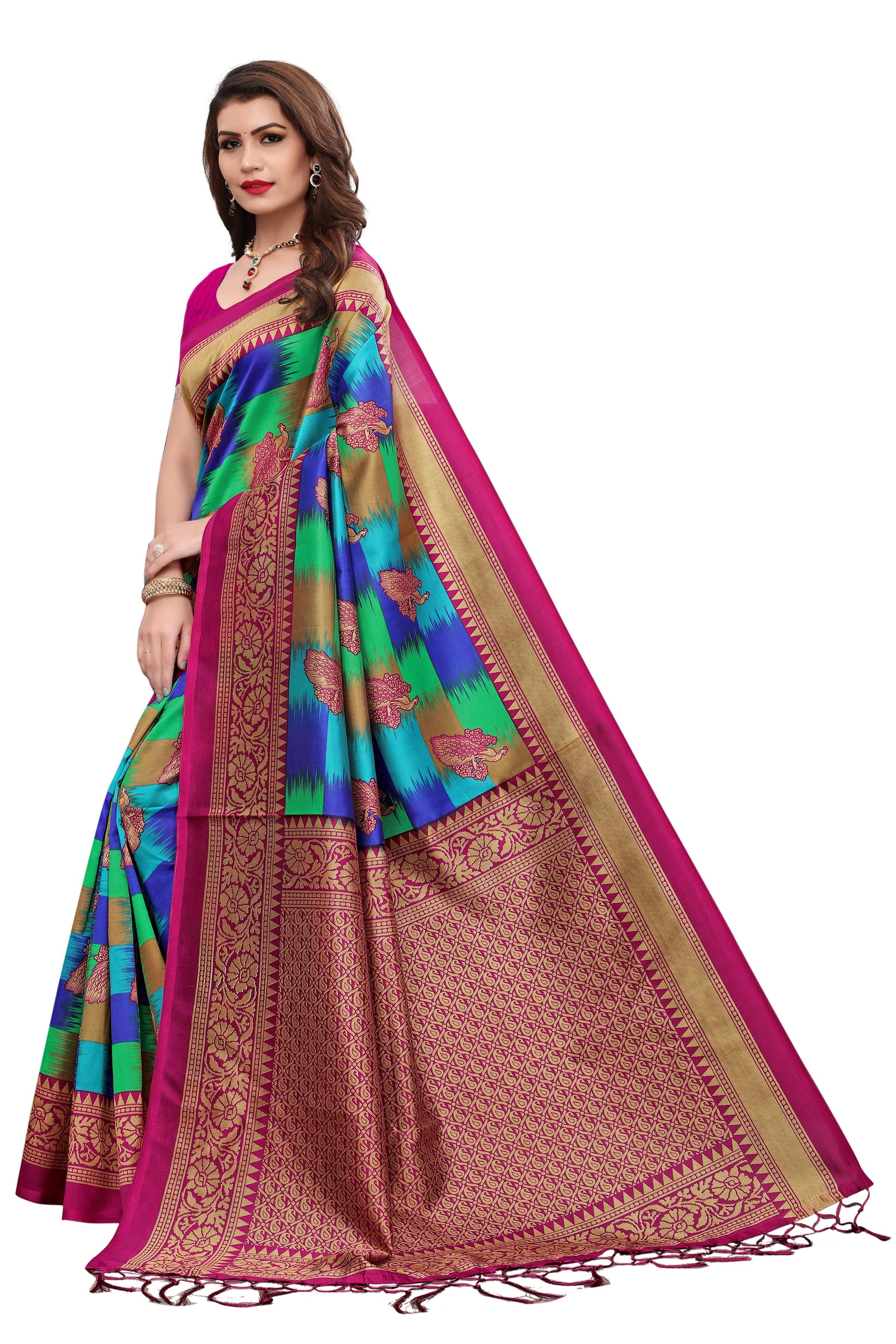 Silky Mysore Jhalar Saree