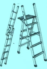 Aluminium Stool Cum Single Ladder