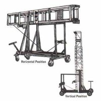 Aluminium Tiltable Telescope Tower Extension Ladder