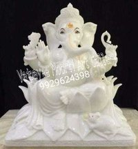Makrana Whilte Marble Ganesh Statue