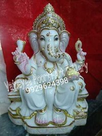 Lord Ganesh Marble Sculpture