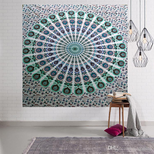 Mandala Religious Indian Cotton Traditional Wall Decor Tapestry