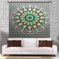 Indian 100% Cotton Handmade Printed Bed sheet  Tapestry