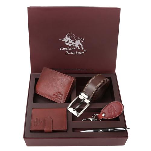 Mens Leather Belt Combo Set