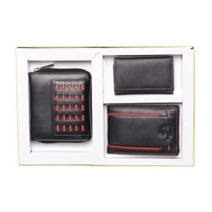 Mens  Leather Wallet WIth Card Holder Combo Set