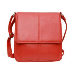 Leather Red Messenger Bag