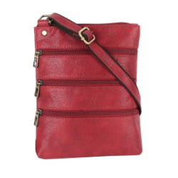 Ladies Leather Red Sling Bag
