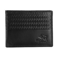 Mens Black Textured Wallet