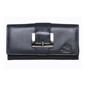 Ladies Leather Navy Blue Wallet