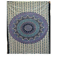 Home Decor Multi Color Star Mandala Printed  Tapestry