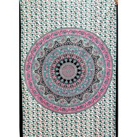 Indian 100% Cotton Round Star Mandala Printed Tapestry
