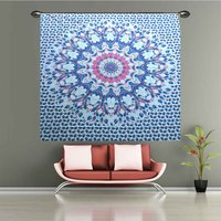 Handmade Indian 100% Cotton Multi Color Floral Hippie Tapestry