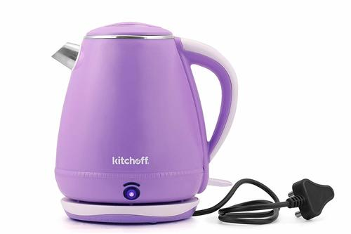 Double Body Automatic Electric Kettle (Light Purple)