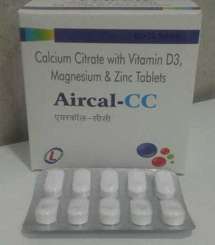 CALCIUM CITRATE WITH VITAMIN D3, MAGNESIUM & ZINC TABLETS