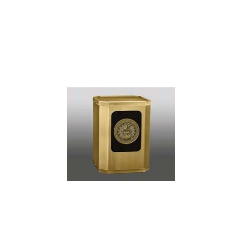 Heritage Air Force Cube Urn in Gold