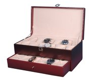 Hard Craft Maroon Watch Boxes for 24 watche