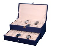 Hard Craft Blue Watch Boxes for 24 watches