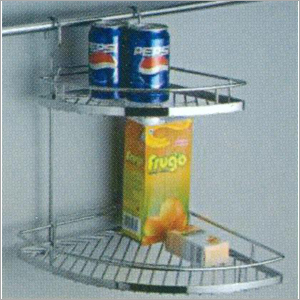Double kitchen corner rack