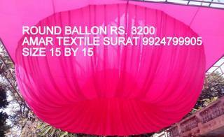 Ceiling Round Ballon Wedlock Fabric