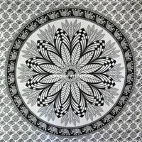 Leaf Mandala 100% Cotton Hippie Wall hanging Tapestry