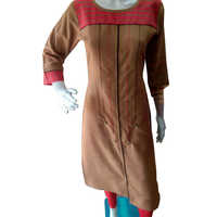Ladies Long Cotton Kurtis