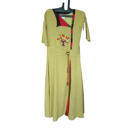 Chiffon Embroidered Kurtis