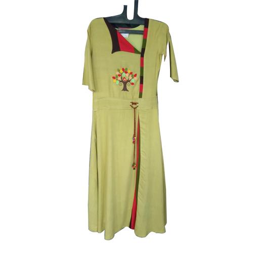 Ladies Embroidered Long Kurti