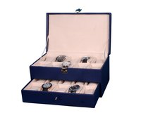 Hard Craft Blue Watch Box for 20 Watches