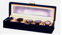 Hard Craft Blue Watch Box for 5 Watches