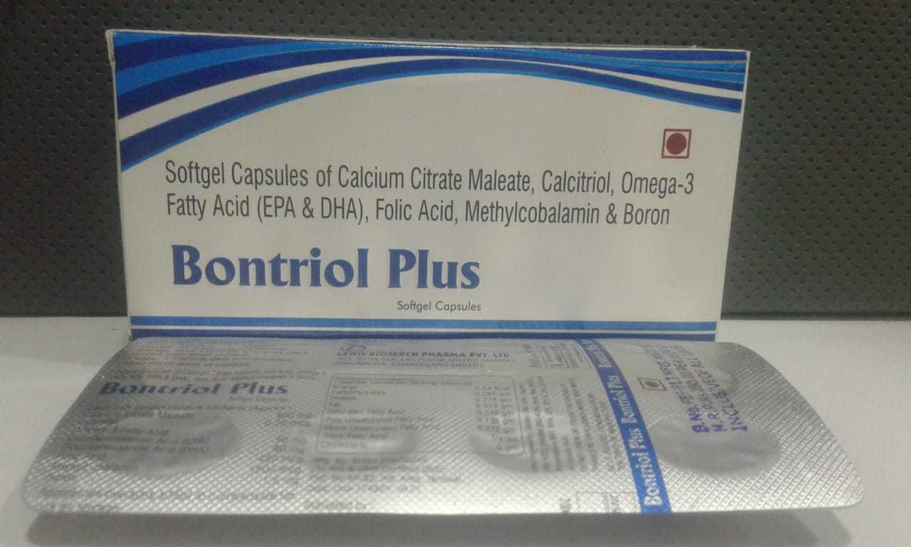 Softgel Capsules of Calcium Citrate Maleate , Calcitriol, Omega -3 Fatty Acid (Epa & Dha) , Folic Acid, Methylcobalamin & Boron