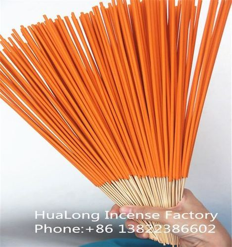 12inch raw orange mosquito agarbatti bamboo incense sticks