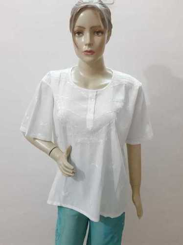 Cotton cambric hand embroidery top