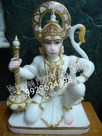 Marble Bajrangbali Statue