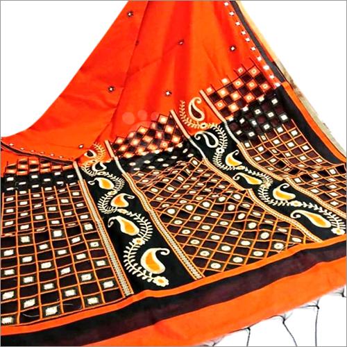 Handloom Cotton Cutwork Silk Saree